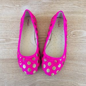 Cat & Jack polka dot flats sz 5